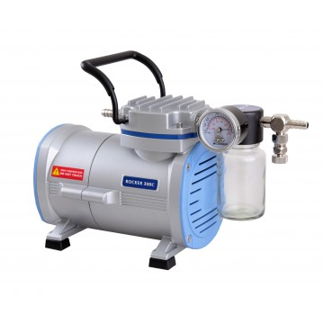 Rocker 300 C Model Vakum Pompası, Yağsız,  Ptfe Kaplı Cam Manifolt,  Kapasite 20 Lt, 630 mmHg E219), 220V/50 Hz